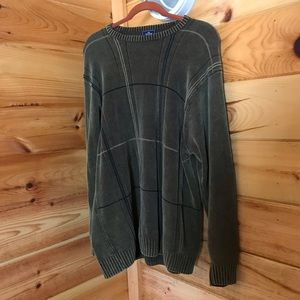 GREEN W/ BLACK STRIPING DOCKERS SOFT SWEATER